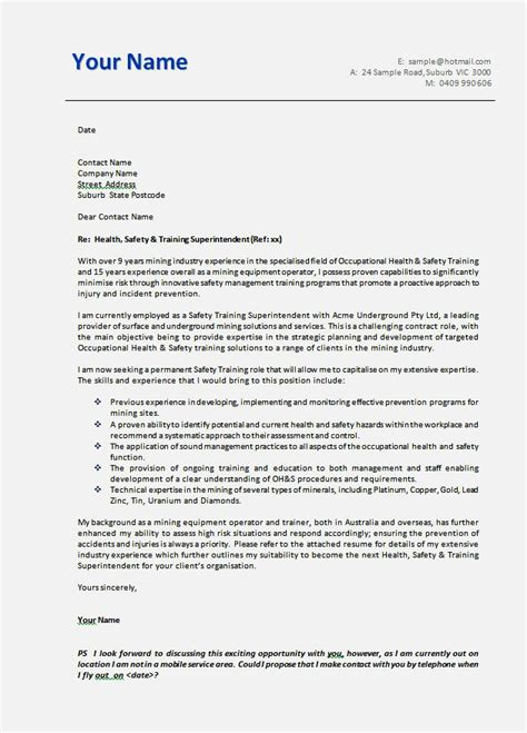 Cover Letter Template by Cover Letter Word In Australia Resume Template Cover