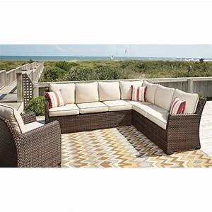 p451 822 ashley furniture sofa sectional chair with cushion With p and s home furniture