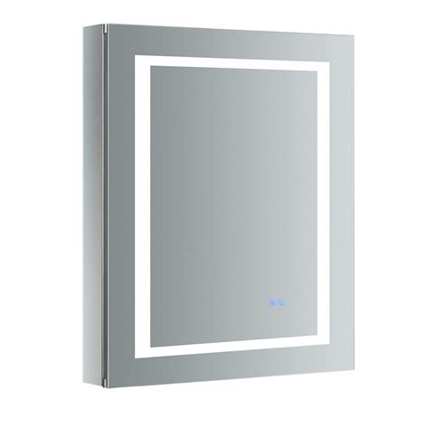 Led Medicine Cabinet by Fresca Spazio 24 In W X 30 In H Recessed Or Surface