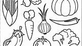 Coloring Fruits Vegetables Pages Vegetable Fruit Printable Veggie Getdrawings Colorings Getcolorings sketch template