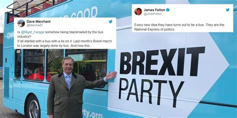 nigel farage  roasted  unveiling  brexit bus indy