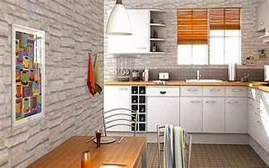 objet deco cuisine design 9 papier peint cuisine 20 With papier peint pour cuisine blanche