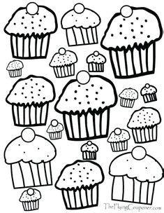 give  cat  cupcake printables images fun