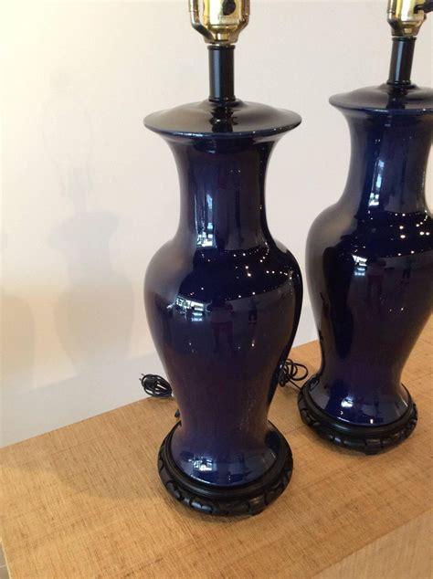 ginger jar table ls ginger jar vintage pair of navy cobalt blue pagoda table
