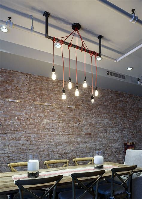 dining room table lighting 50 bold and inventive dining rooms with brick walls