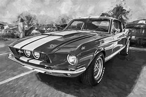 1967 Ford Shelby Mustang GT500 Painted BW Photograph by Rich Franco