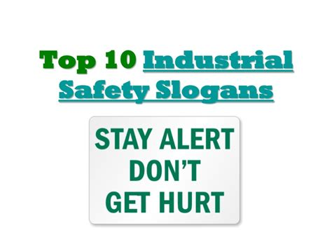 top  industrial safety slogans
