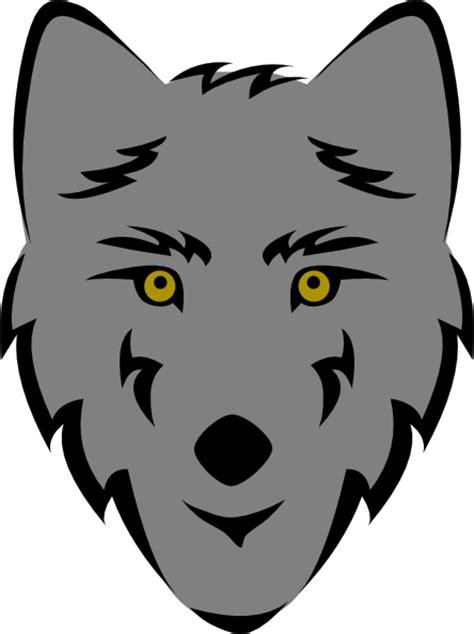 simple stylized wolf head clip art  clkercom vector
