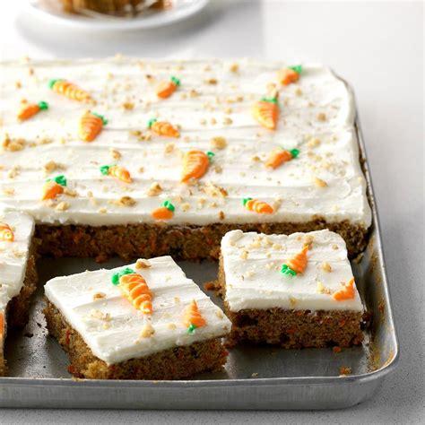 carrot sheet cake recipe taste of home