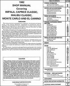 1982 Gmc Caballero Repair Shop Manual Original