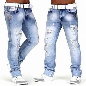 Hose Mit Löchern Herren : herren jeans hose designer used destroyed slim fit clubwear look buff ebay ~ Frokenaadalensverden.com Haus und Dekorationen