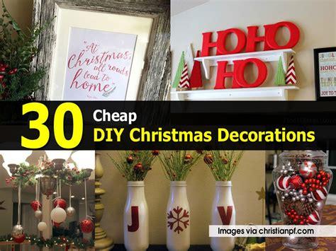 30 cheap diy christmas decorations