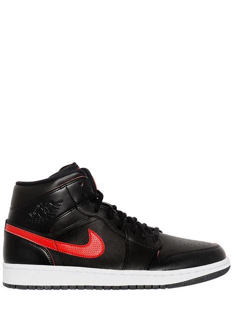 Nike Air Jordan Faux Leather Sneakers In Black For Men Lyst