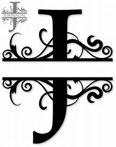 Quotjquot split monogram monograms pinterest monograms for Initial letters