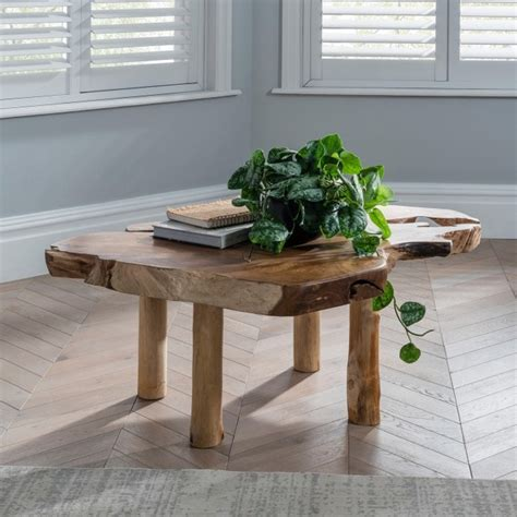 The cool new root coffee table may look like the root of a giant tree finished down into a decorative outdoor table, but's actually made from a highly detailed and realistic looking resin and fiberglass mix. Teak Root Coffee Table Rustic | Contemporary Furniture