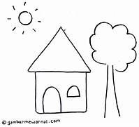 930 Gambar Rumah Mudah Untuk Anak Tk Terbaik Gambar Rumah
