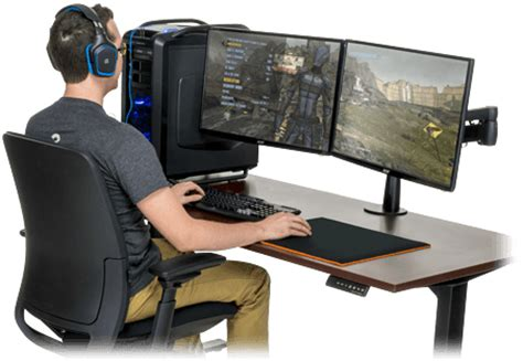 gaming l shaped desk gaming computer desk pic the best one goodworksfurniture