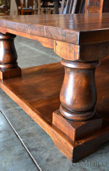 Rustic Turned Leg Coffee Table Demejico