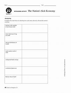 22 Reteaching Activity The Nation U0026 39 S Sick Economy