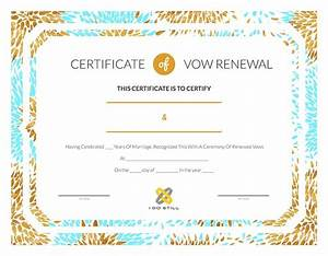 modern teal gold certificate of vow renewal i do still With vow renewal certificate template
