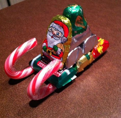 candy cane skeigh xmas craft sleigh crafty fox arts and crafts