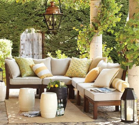 pottery barn outdoor furniture 20 amazing backyard living outdoor spaces