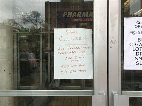 Greenwich Village Duane Reade Shutters Doors Away From