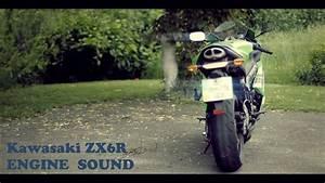 Kawasaki Zx6r 2008 Engine Sound  Stock Exhaust