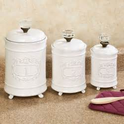 circa white ceramic kitchen canister set - Ceramic Kitchen Canisters Sets