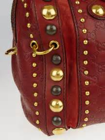 gucci red guccissima babouska large indy boston bag yoogis closet