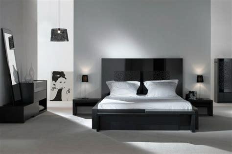 chambre en noir et blanc couleur peinture chambre adulte 25 idées intéressantes