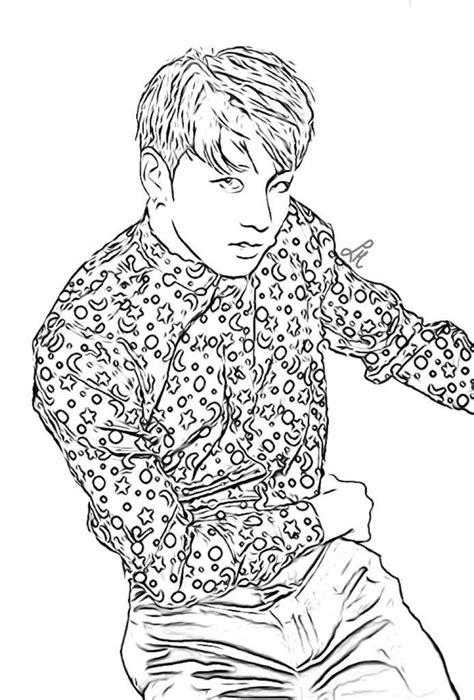 suga bts kpop coloring page