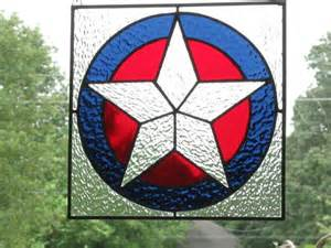 Patriotic Stained Glass Stars