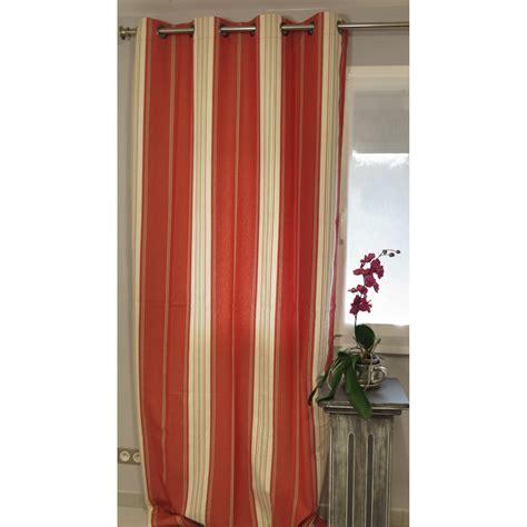 eurodif rideaux pret a poser tenture pr 234 t 224 poser hossegor tomate 135 x 270 cm l atelier de la toile