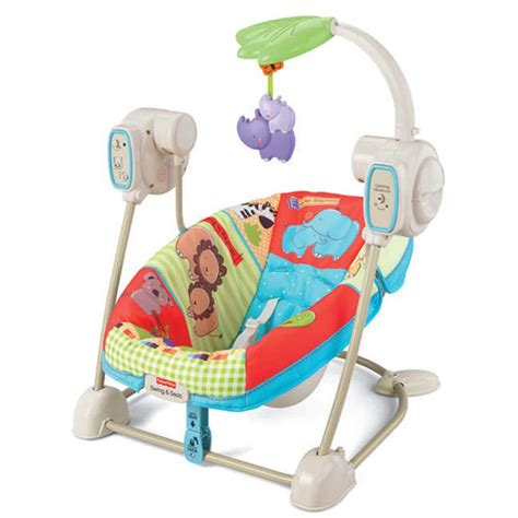 Fisher Price Luv U Zoo Spacesaver Swing From Fisher Price