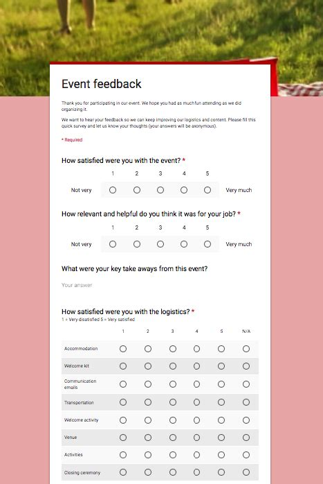 excellent google forms templates  teachers