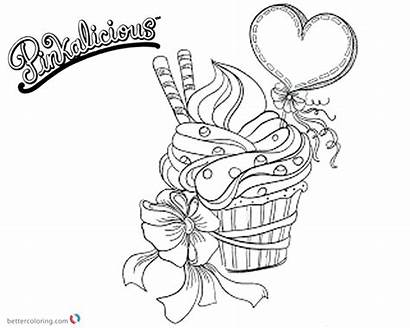 Coloring Pinkalicious Cupcake Pages Fancy Printable Template