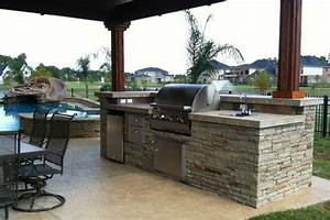 outdoor kitchen designs with pool home round With pool and outdoor kitchen designs