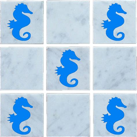 Vinyl Wall Tiles Bathroom by Seahorse Vinyl Wall Tile Stickers Decal Transfers For