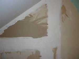 Comment Faire Des Bandes De Placo : papier peint enlever sur placo ~ Dailycaller-alerts.com Idées de Décoration