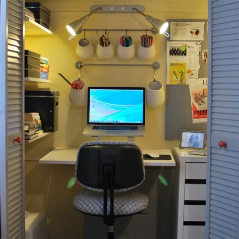 your own office from a storage closet
