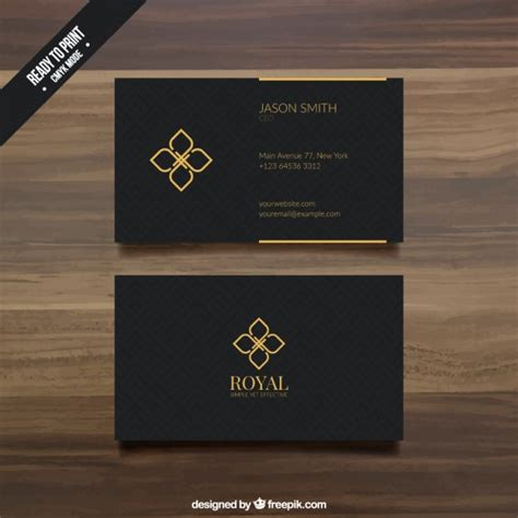 black business card template vector premium