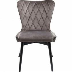 Chaise Velours Design : chaise en velours grise marshall velvet kare design ~ Teatrodelosmanantiales.com Idées de Décoration