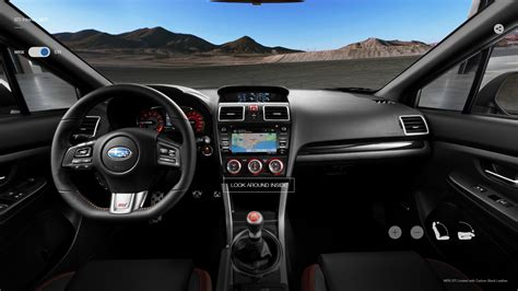 Get a 360 View of the 2018 Subaru WRX STI Interior