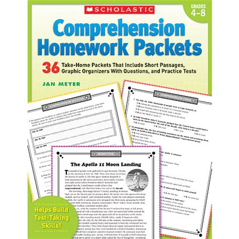 scholastic reading comprehension homework packets by