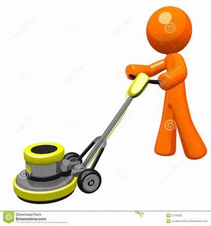 Floor Sanding Scrubber Clipart 3d Orange Clip