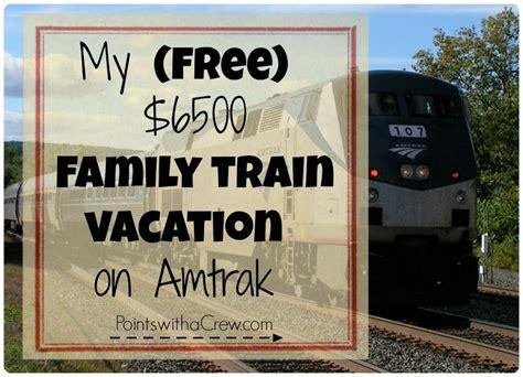 family train vacation  amtrak points