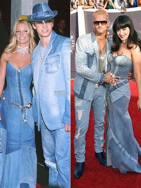VMAs 2014 Katy Perry Britney Spears Homage Katy Perry Denim Dress