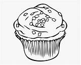 Clipart Chocolate Cookie Printable Getdrawings Cupcake Sprinkles Coloring Clipartkey sketch template