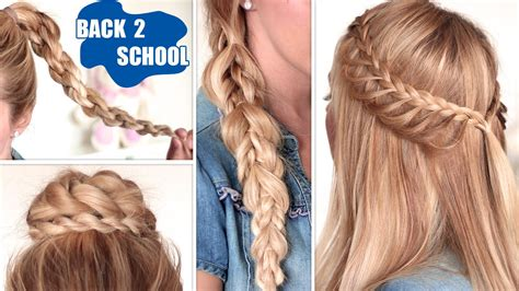 quick and easy hairstyles for school for long hair